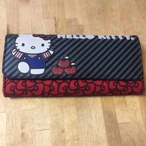 Hello kitty Sanrio Wallet black red